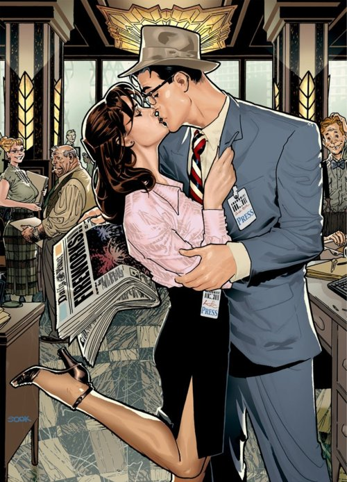 clark-kent-kissing-lois-lane-by-ryan-sook