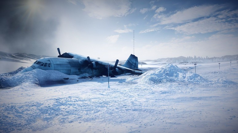 Crashed Plane Snow Cloud Sky Winter Airplane Best Wallpapers